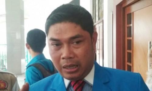 Sekretaris Jenderal (Sekjen) DPD KNPI Kabupaten Bogor, Suhandi usai resmi dilantik di Aula Tegar Beriman, Cibinong, Kabupaten Bogor, Jawa Barat, (Foto/Ant)