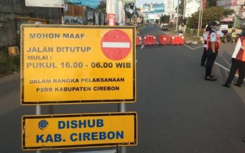 Pelaksanaan PSBB Kota Cirebon. (Foto: Ist)