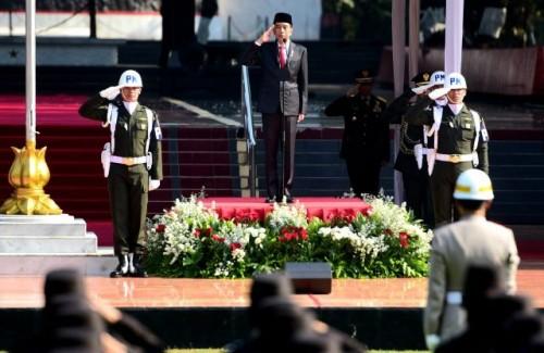 Presiden saat memimpin Upacara Kesaktian Pancasila. (Foto: Dok Humas Setkab)