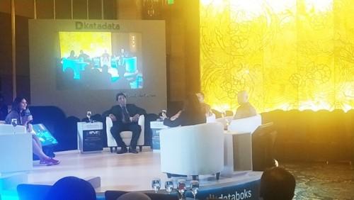 Bupati Belitung Timur (Beltim) Yuslih Ihza, menjadi pembicara diacara Indonesia Data and Economic (IDE) 2020 dari Katadata yang bertemakan New Paradigm in Indonesian's Tourism, di Hotel Indonesia Kempinski Jakarta Pusat, Kamis, (30/1)